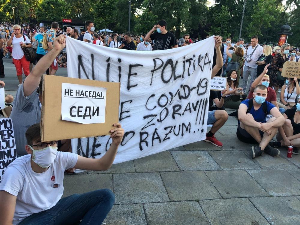 Протесты в Сербии // Фото: Global Look Press