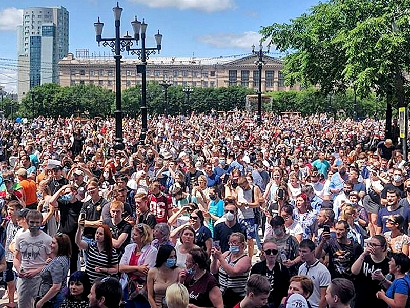 Митинг в поддержку губернатора Сергея Фургала / фото в статье: Instagram