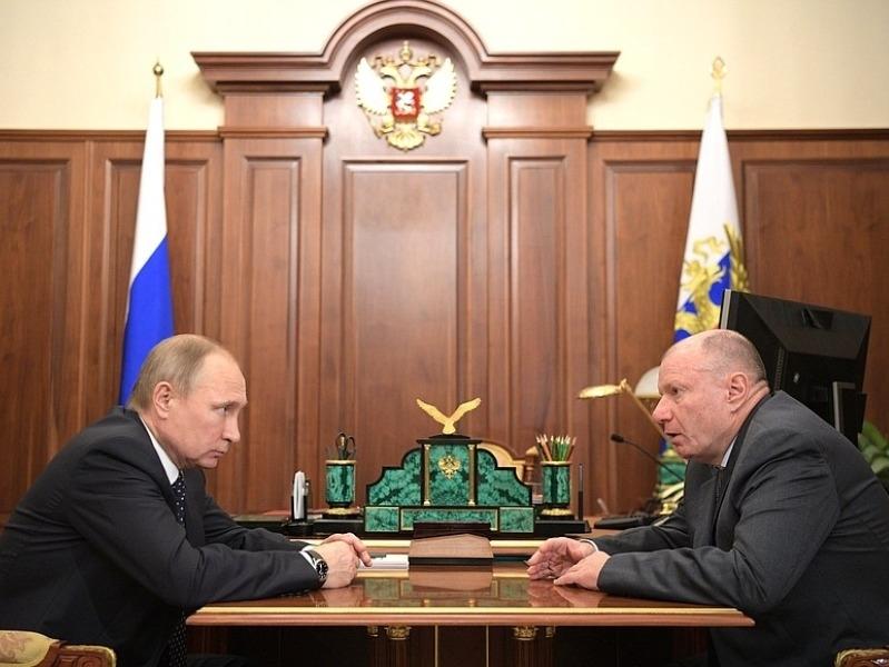Владимир Путин и Владимир Потанин // Фото: сайт президента РФ