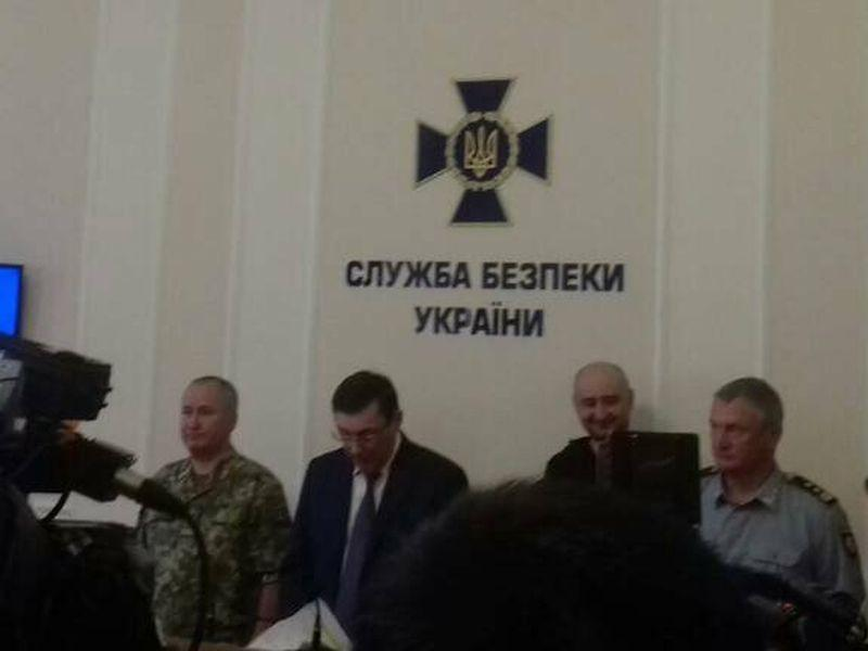Пресс-конференция 30 мая, на которой Аркадий Бабченко – живой и невредимый – был предъявлен общественности // фото: пресс-служба СБУ / Global Look Press