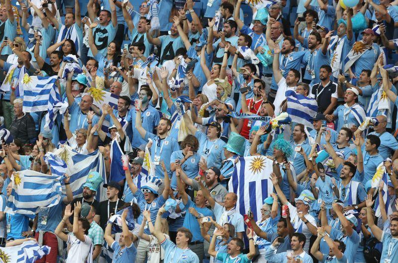 Фанаты сборной Уругвая в России / фото: Global Look Press