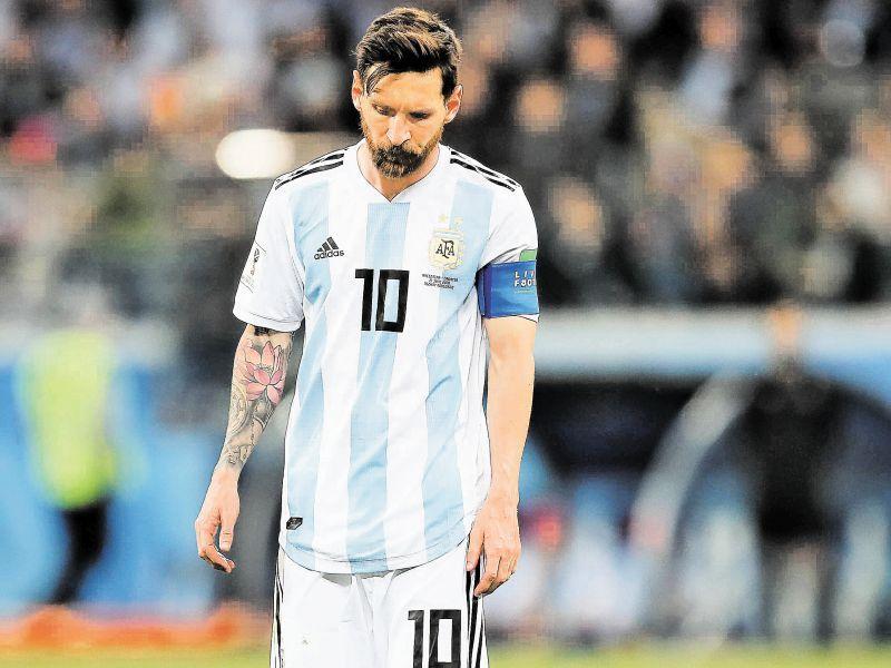 Лионель Месси на ЧМ-2018 в составе сборной Аргентины по футболу // фото: Global Look Press