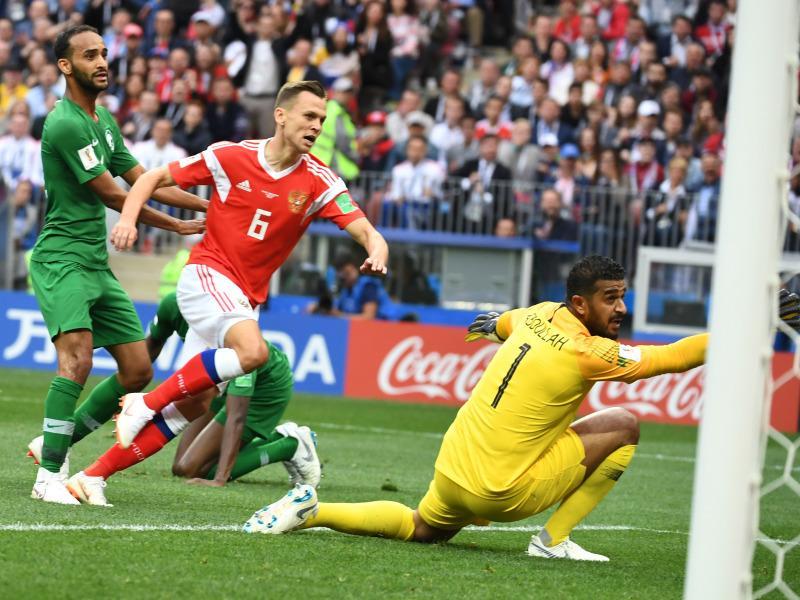 Россия обыграла Саудовскую Аравию со счетом 5:0 на ЧМ-2018 // фото: Federico Gambarini / dpa / Global Look Press