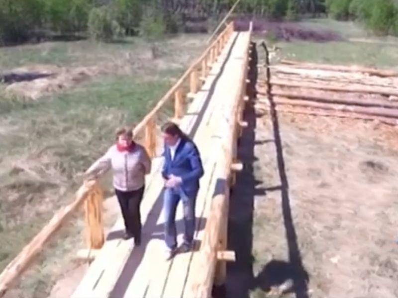 Киржачский деревянный мост – самый длинный в России – называется Типографским // стоп-кадр / Владимирское областное телевидение