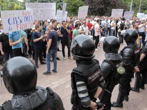 Протесты в Молдавии // Фото: STR / ТАСС