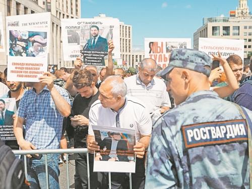 Голунова отпустили, но преследование его «неугодных» коллег продолжается, о чем и кричали участники митингов // фото: агентство «Москва»