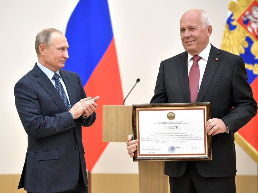 Владимир Путин и Сергей Чемезов // Фото: Global Look Press