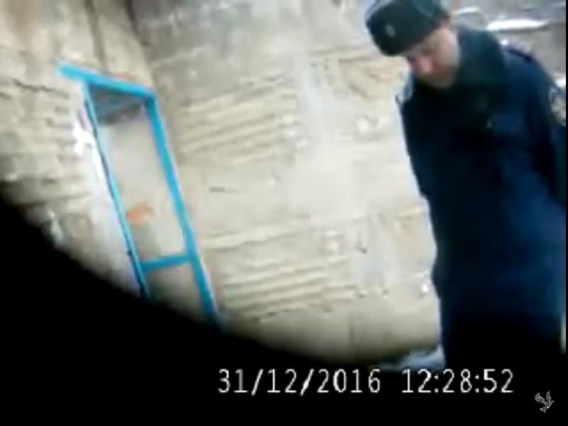 Кадр из опубликованного правозащитниками видео