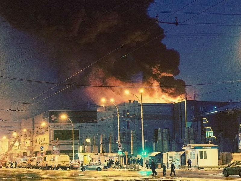 стоп-кадр видео с места пожара / Youtube