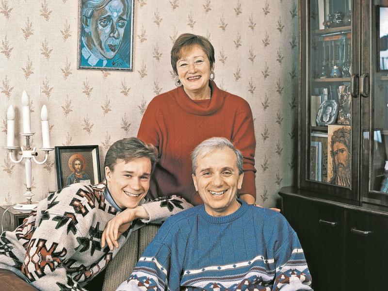 Семейное фото с сыном Сергеем и первой женой Татьяной