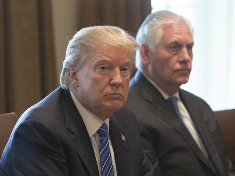 Дональд Трамп и Рекс Тиллерсон // Фото: Global Look Press