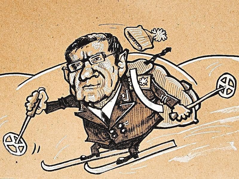Карикатура на Юрия Чайку // рисунок: Камиль Бузыкаев