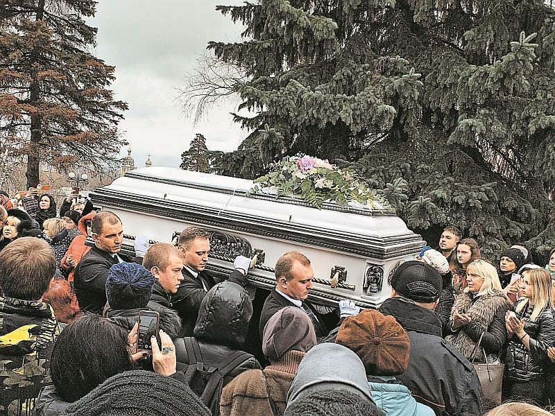 Похороны Юлии Началовой // фото: Денис Сорокин