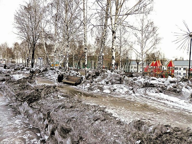 О белом снеге жителям Киселевска остается только мечтать