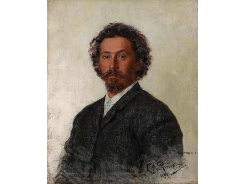 Репин И. Е. «Автопортрет» (1887 год) Государственная Третьяковская галерея