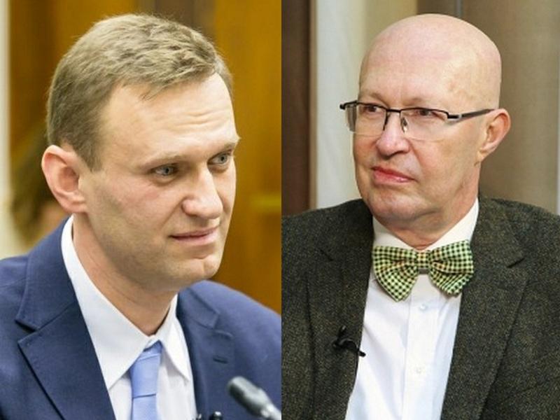 Алексей Навальный и Валерий Соловей // Фото: Global Look Press и стоп-кадр с YouTube