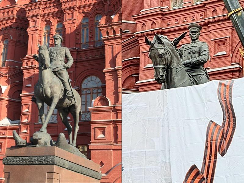 Старый и новый памятники маршалу Жукову / фото в статье: Depositphotos, Агентство «Москва»
