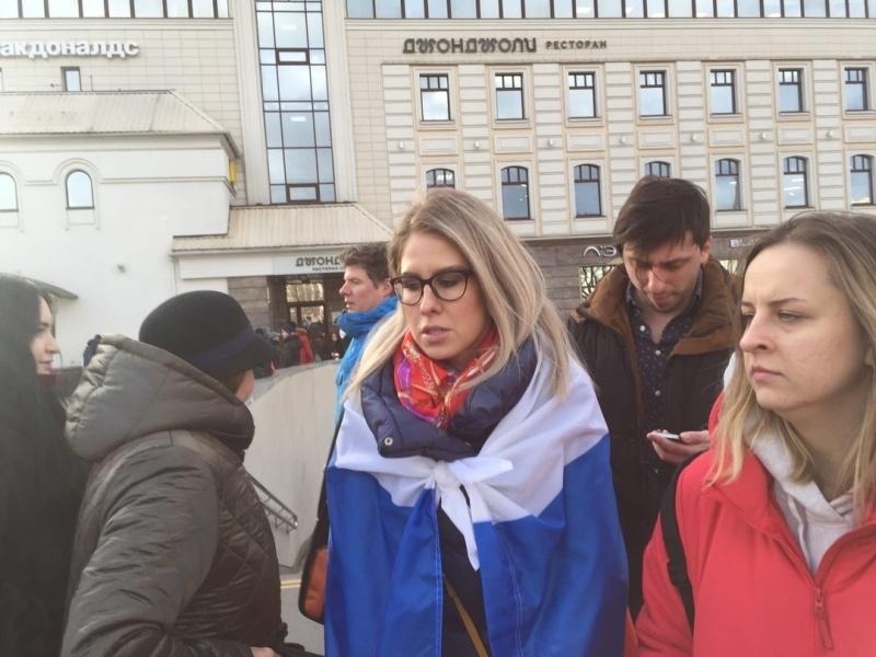 Любовь Соболь на марше Немцова // фото: Клим Шпак