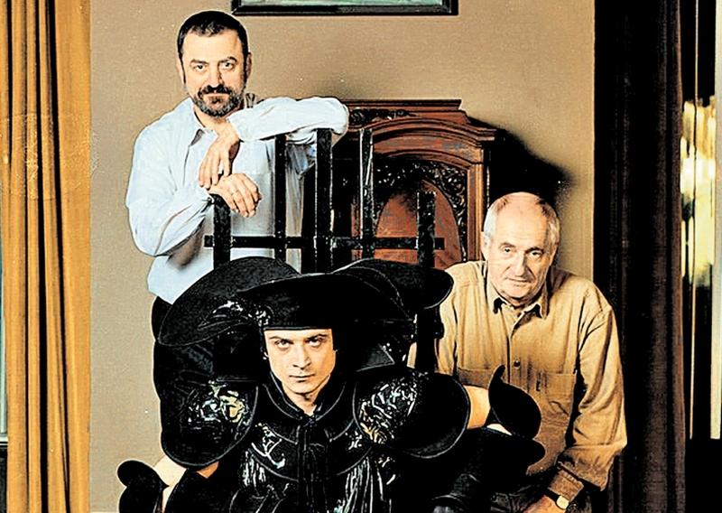 Григорий Горин вместе с актером Александром Лазаревым и Марком Захаровым // Фото: Валерий Плотников