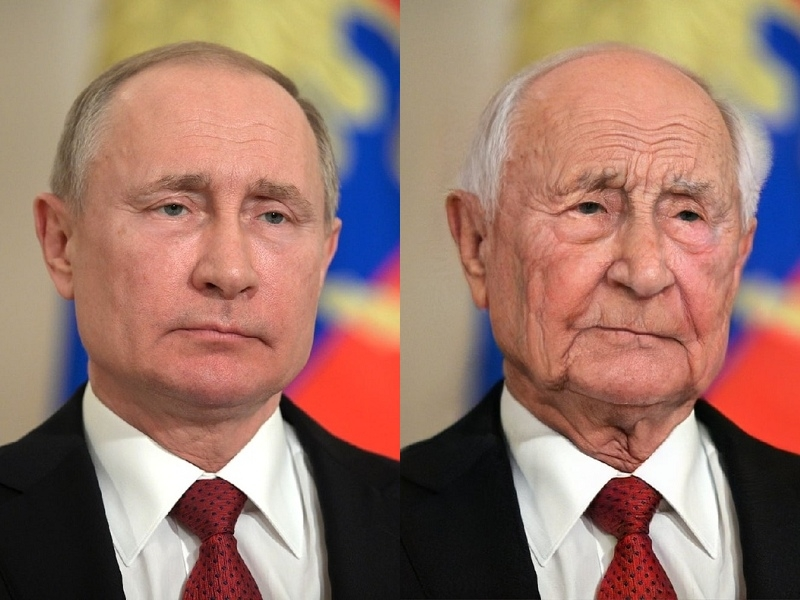 Владимир Путин в 2020 и 2036 годах // Global Look Press и сервис FaceApp