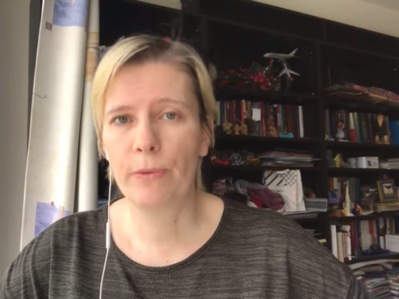 Марина Литвинович // Скриншот с видео в Facebook