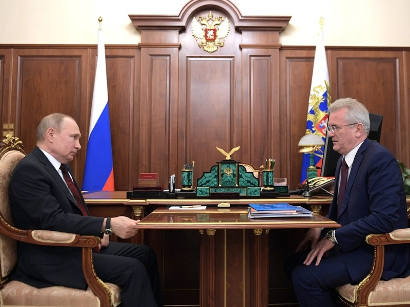 Владимир Путин и Иван Белозерцев // Фото: Global Look Press