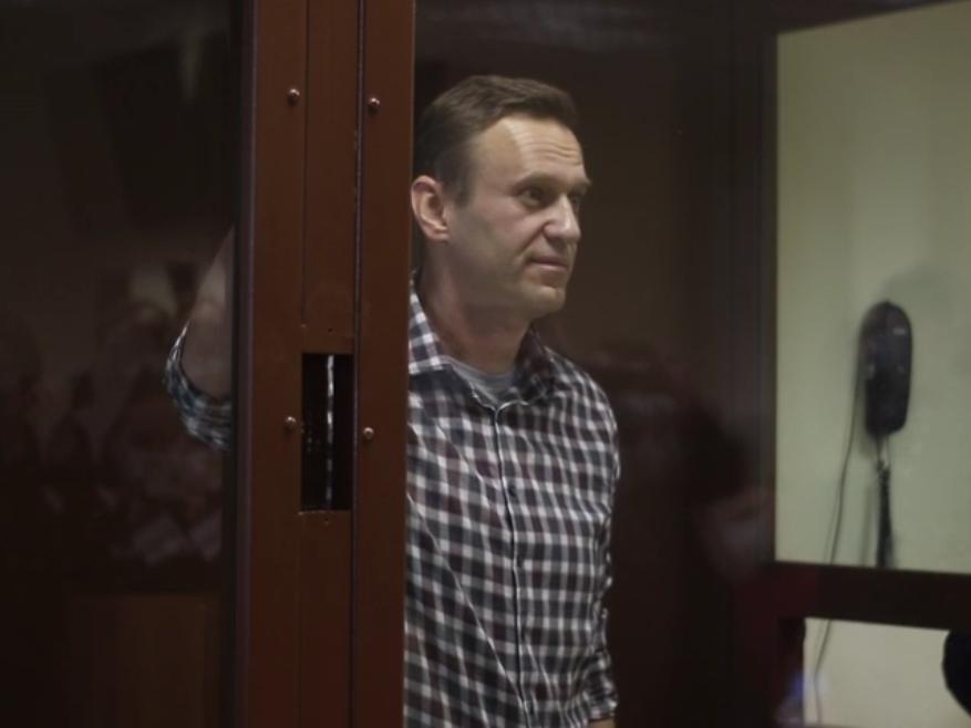 Алексей Навальный // Скриншот видео пресс-службы Мосгорсуда