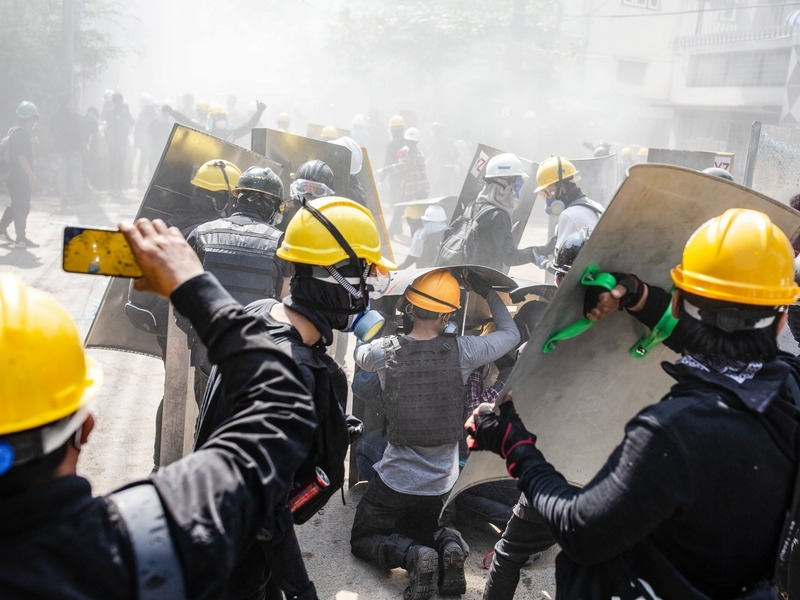 Протесты в Мьянме // Фото: Global Look Press