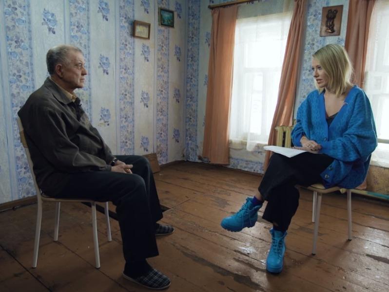 Виктор Мохов и Ксения Собчак // скриншот Youtube