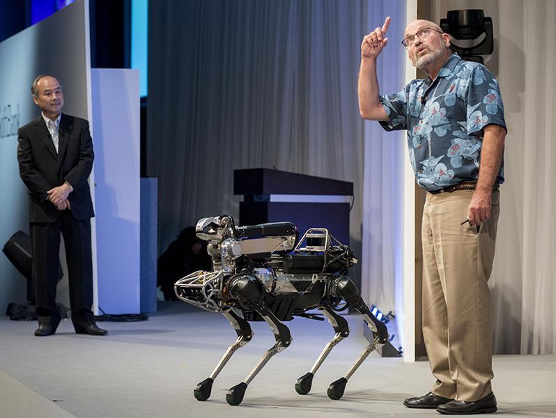 Презентация одной из моделей робота-собаки // Фото: Global Look Press