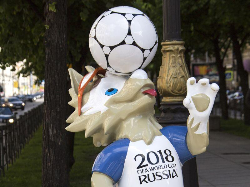 Символ ЧМ-2018 по футболу в России Забивака // фото: Николай Гынгазов / Global Look Press