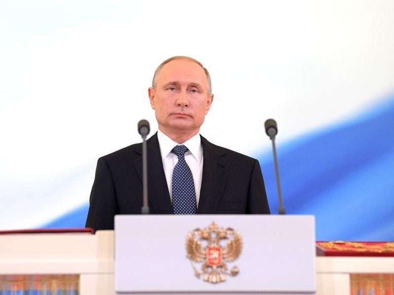 Владимир Путин на инаугурации в Кремле 7 мая 2018 года // фото: Global Look Press