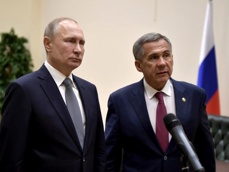 Владимир Путин и Рустам Минниханов // фото: Kremlin Pool / Global Look Press