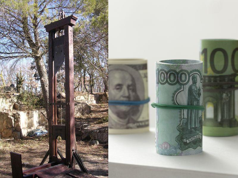 // фото: Sylvain Larue / site.voila.fr /guillotine, CC BY-SA 3.0, Wikimedia.org ; Николай Гынгазов / Global Look Press