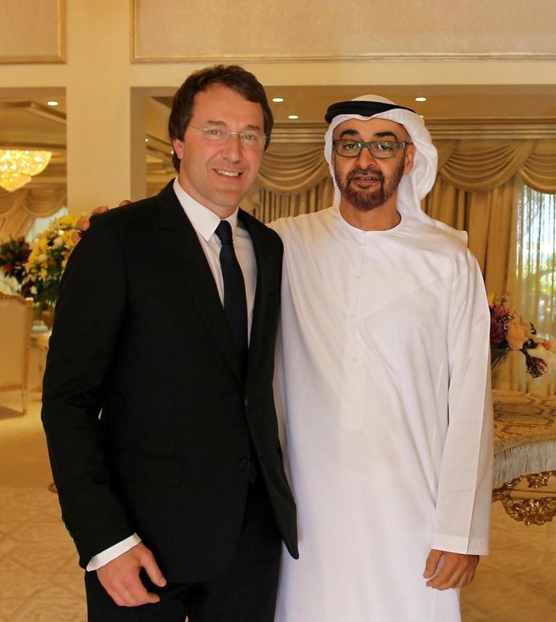 Руслан Байсаров с Наследным принцем Абу-Даби Шейхом Мохаммадом Бен Зайедом Аль Нахайаном (Фото из личного архива)