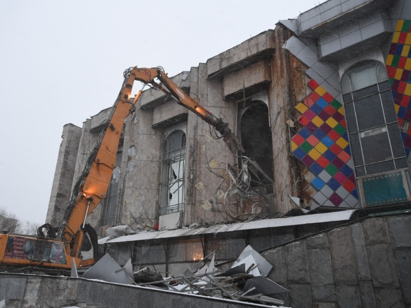 "Снос киноцентра ""Соловей"" // Фото: Global Look Press"