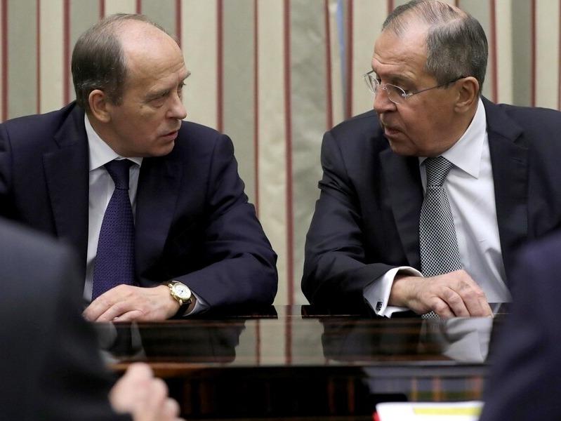 Александр Бортников и Сергей Лавров // Фото: Global Look Press
