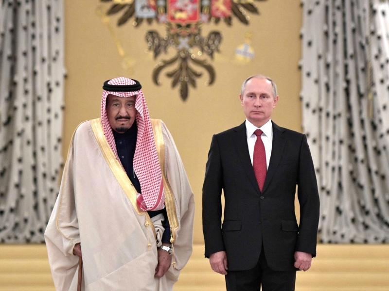 Король Саудовской Аравии Салман ибн Абдул-Азиз Аль Сауд и Владимир Путин // Фото: Global Look Press