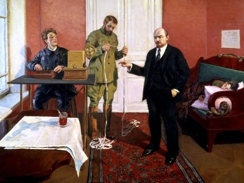 Игорь Грабарь. В.И.Ленин у прямого провода. 1927-1933