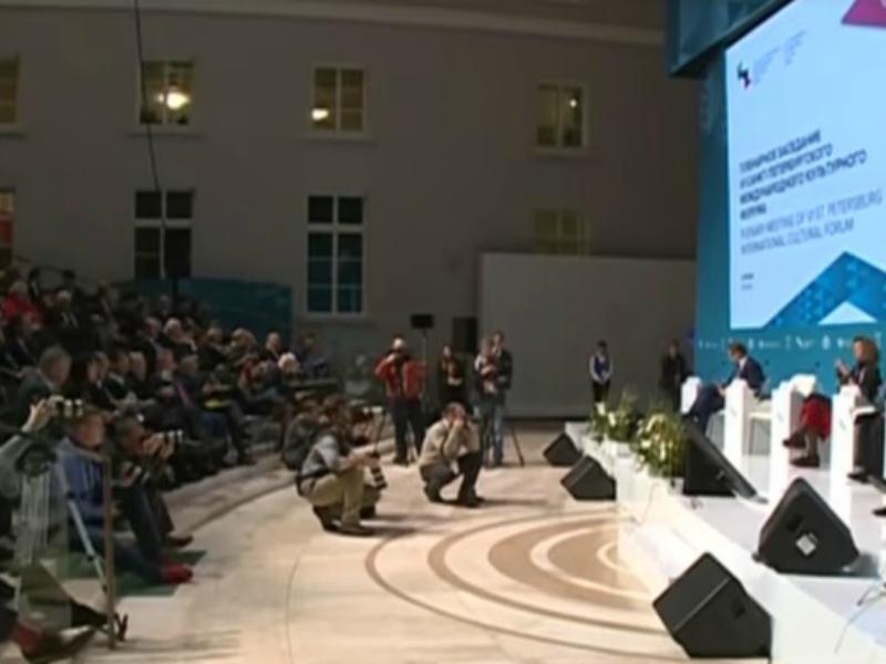 VI Санкт-Петербургский международный культурный форум начался со скандала // Стоп-кадр YouTube