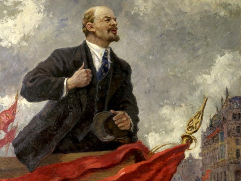 Александр Герасимов. Ленин на трибуне. 1930