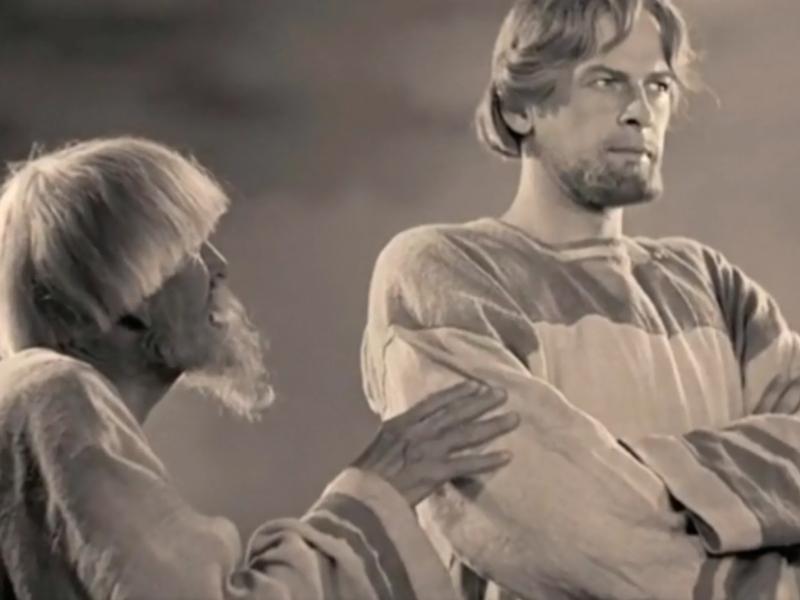 """Кадр из фильма """"Александр Невский"""", использованный в проморолике"""