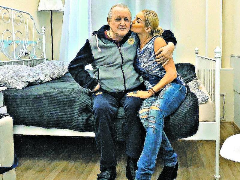 Волочкова с отцом  // фото: инстаграм