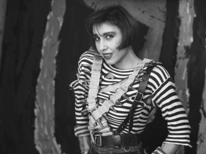 Наталья Ступишина в образе Анки-пулеметчицы // фото: К. Капунов / ТАСС