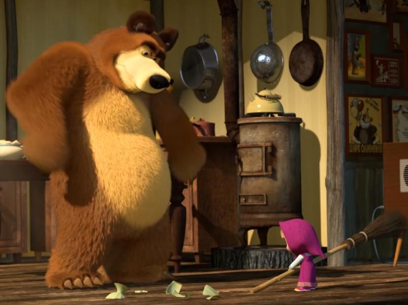 """стоп-кадр / Youtube / """"Маша и Медведь"""""""