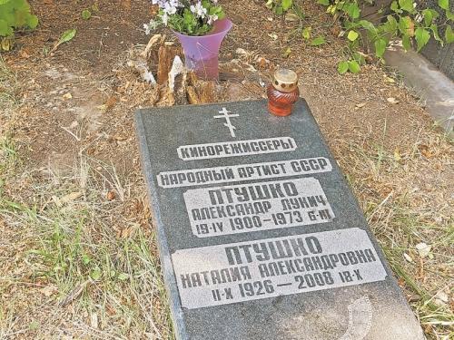 Могила Александра Птушко без памятника