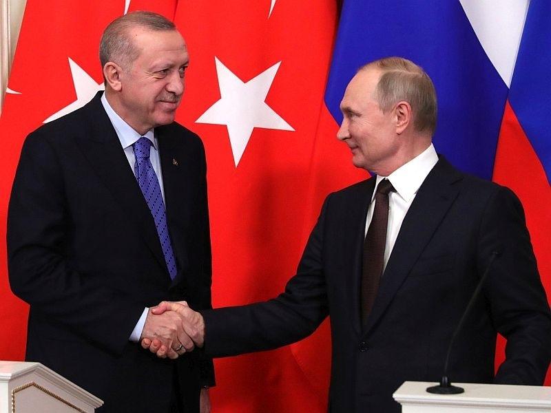 Реджеп Эрдоган и Владимир Путин // Фото: Global Look Press
