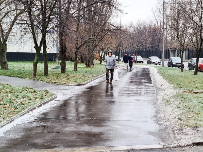 Последствия ледяного дождя в столице // АГН «Москва»