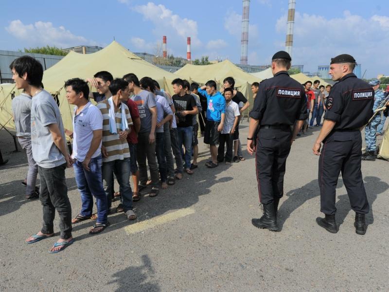 Гольяново. Лагерь для готовящихся к депортации нелегальных мигрантов // фото: Global Look Press