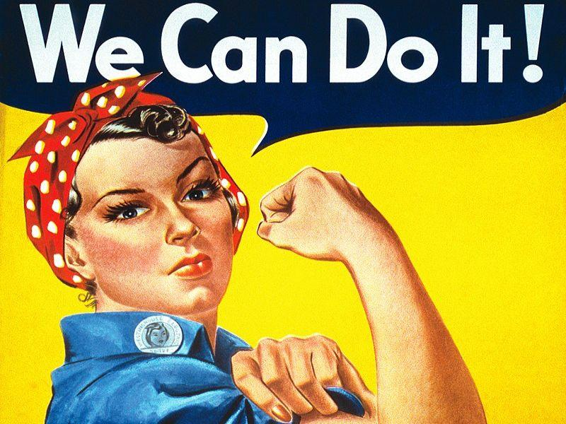 "Плакат Дж. Хоуарда Миллера ""Мы это можем!"", 1943 год"
